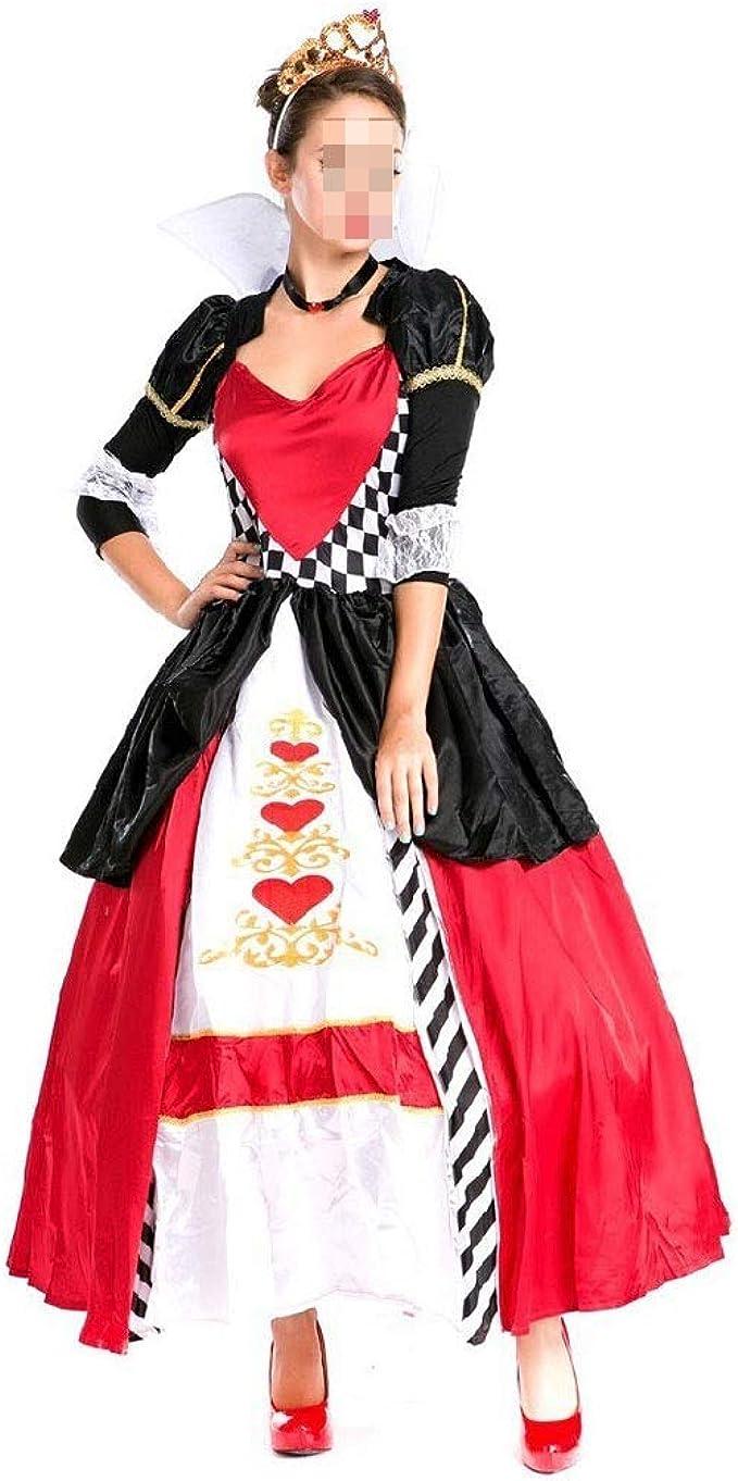 KODH Disfraz de Halloween Cosplay Disfraz de reina de corazón rojo ...