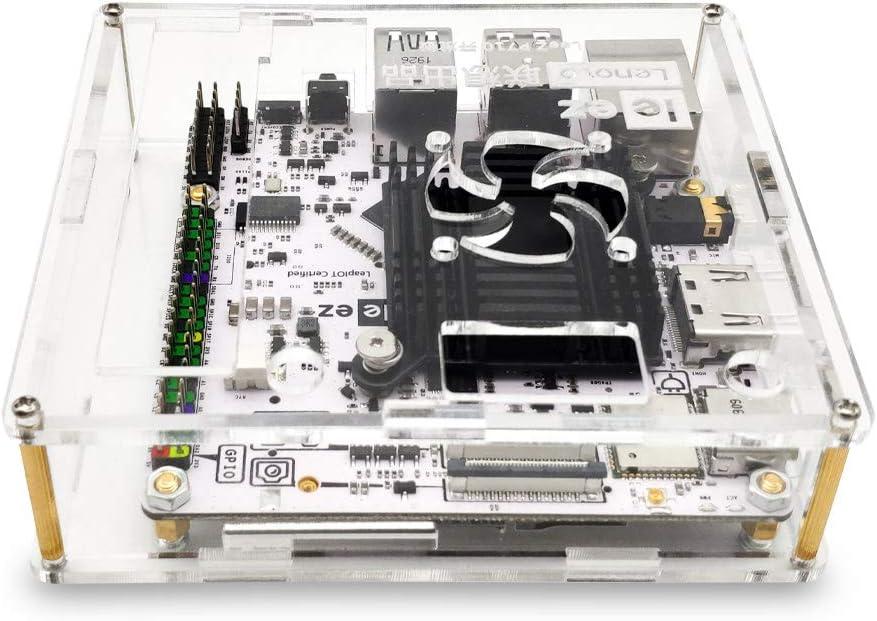 youyeetoo Lenovo Leez P710 procesador de Seis n/úcleos de 64 bits SBC Compatible con Pantalla de Tres Pantallas y Placa de Desarrollo de IoT con Sistema multioperativo Funda P710