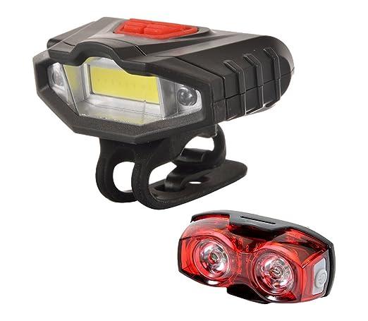 UDee Bicycle Combo of LED Front Light warning lights 3 Mode 1 Watt Twin Eye Rear Light