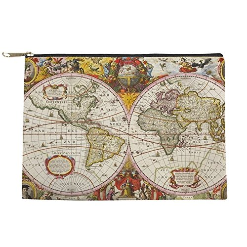 CafePress - Antique World Map - Makeup Pouch