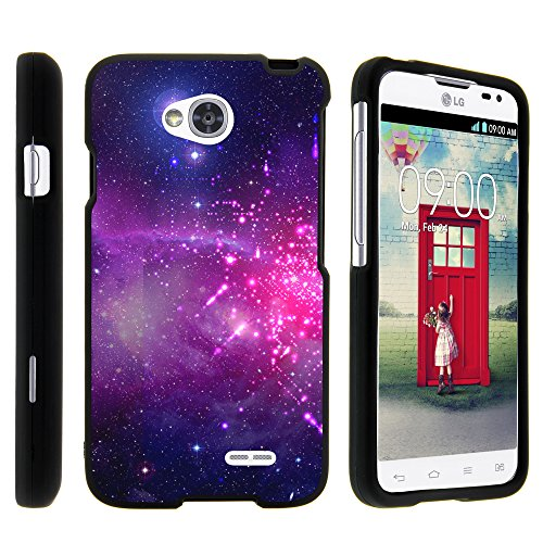 LG Optimus L70 Case, LG Ultimate 2 Case, Stylish Snug Fitted Hard Protector Cover Snap On Case with Customized Design for LG Optimus L70 MS323, LG Optimus Exceed 2 VS450PP, LG Realm LS620, LG Ultimate 2 L41C (Metro PCS, Verizon, Boost Mobile) from MINITURTLE | Includes Clear Screen Protector and Stylus Pen - Heavenly Stars