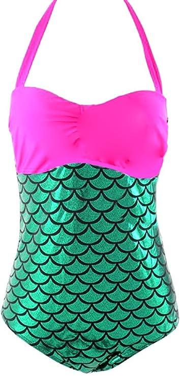 9cd07c39b64 Amazon.com  Jacob Oliver New style Women s Halter Splice Mermaid Plus Size  Bikini Swimwear Sets comfortable  Clothing