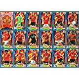 MATCH ATTAX 2017/18 MANCHESTER UNITED FULL 18 CARD TEAM SET 17/18 UTD