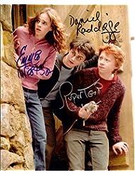 Harry Potter with Daniel Radcliffe & Emma Watson Cast Signed Autographed 8 X 10 Reprint Photo - Mint Condition