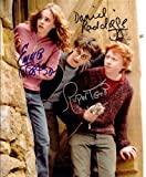 #3: Harry Potter with Daniel Radcliffe & Emma Watson Cast Signed Autographed 8 X 10 Reprint Photo - Mint Condition