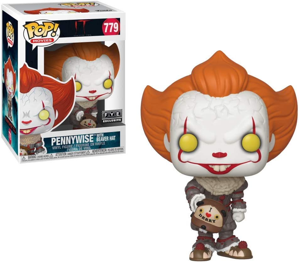 Funko- Pop. Vinyl: Movies: It: Chapter 2-Pennywise W/Beaver Hat W/Chase (Styles May Vary) Figura Coleccionable, Multicolor (40629)