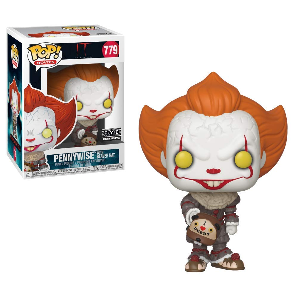 Funko- Pop Styles May Vary Vinyl: Movies: It: Chapter 2-Pennywise W//Beaver Hat W//Chase Multicolore Figura da Collezione 40629