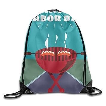 Kathleen barbacoa impresión divertida cara sonriente emoticono suave Casual mochila escolar libro bolsas mochila cordón mochilas para viajar o ir de compras ...