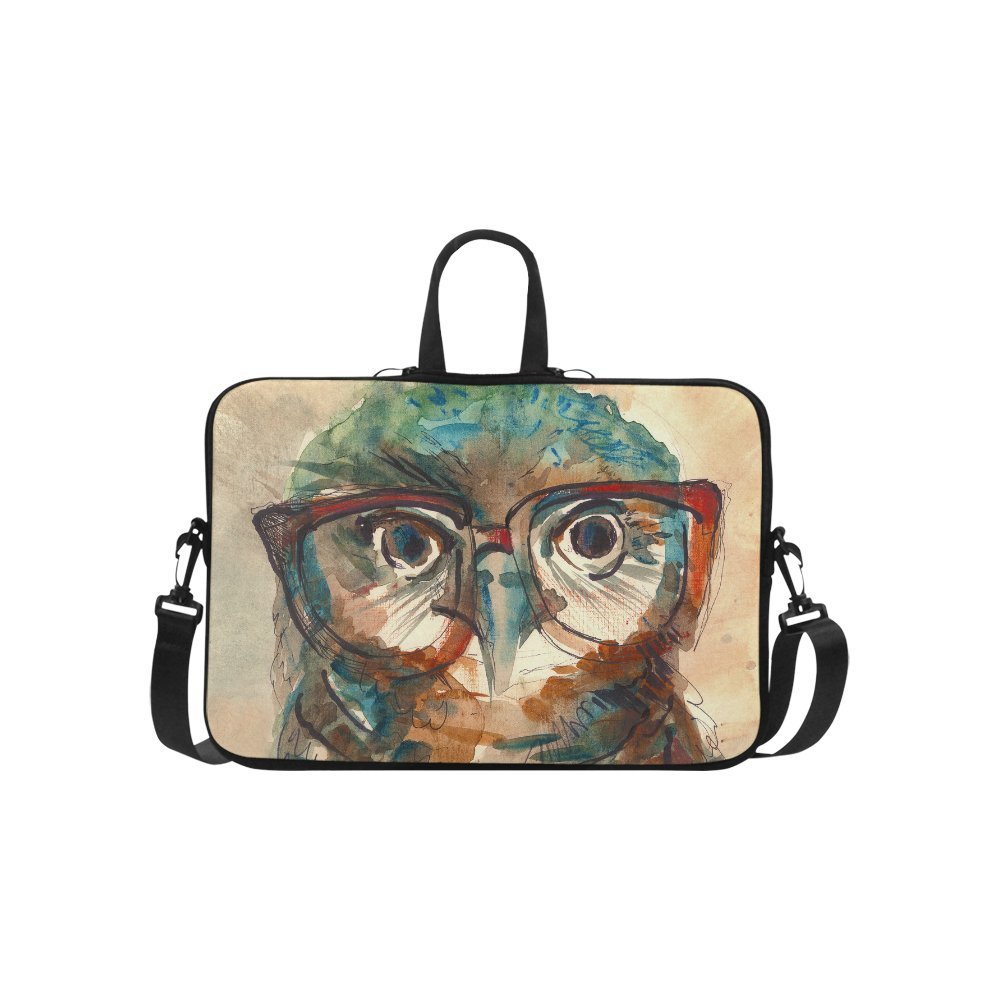 InterestPrint Classic Personalized Owl with Hipster Glasses Watercolor 15.4'' - 15.6'' /Macbook Pro 15 Inch Laptop Sleeve Case Bags Skin Cover for Lenovo, GW, Acer, Asus, Dell, Hp, Sony, Toshiba