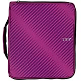 Five Star 2 Inch Zipper Binder, 3 Ring Binder, 6-Pocket Expanding File, Durable, Berry Pink/Purple (72540)