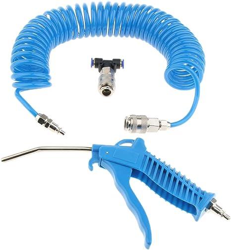 4 /× 6 mm azul Pistolas De Polvo De Aire Compresor De Aire Manguera De Retroceso Largo En Espiral Neum/ática Golpe
