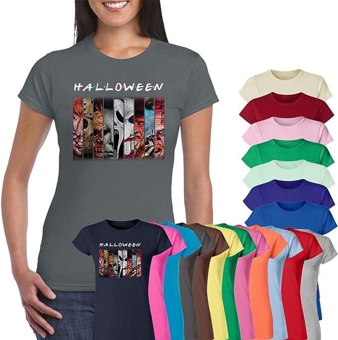 Halloween Horror Friends Characters T-Shirt Halloween Costume TOP ...