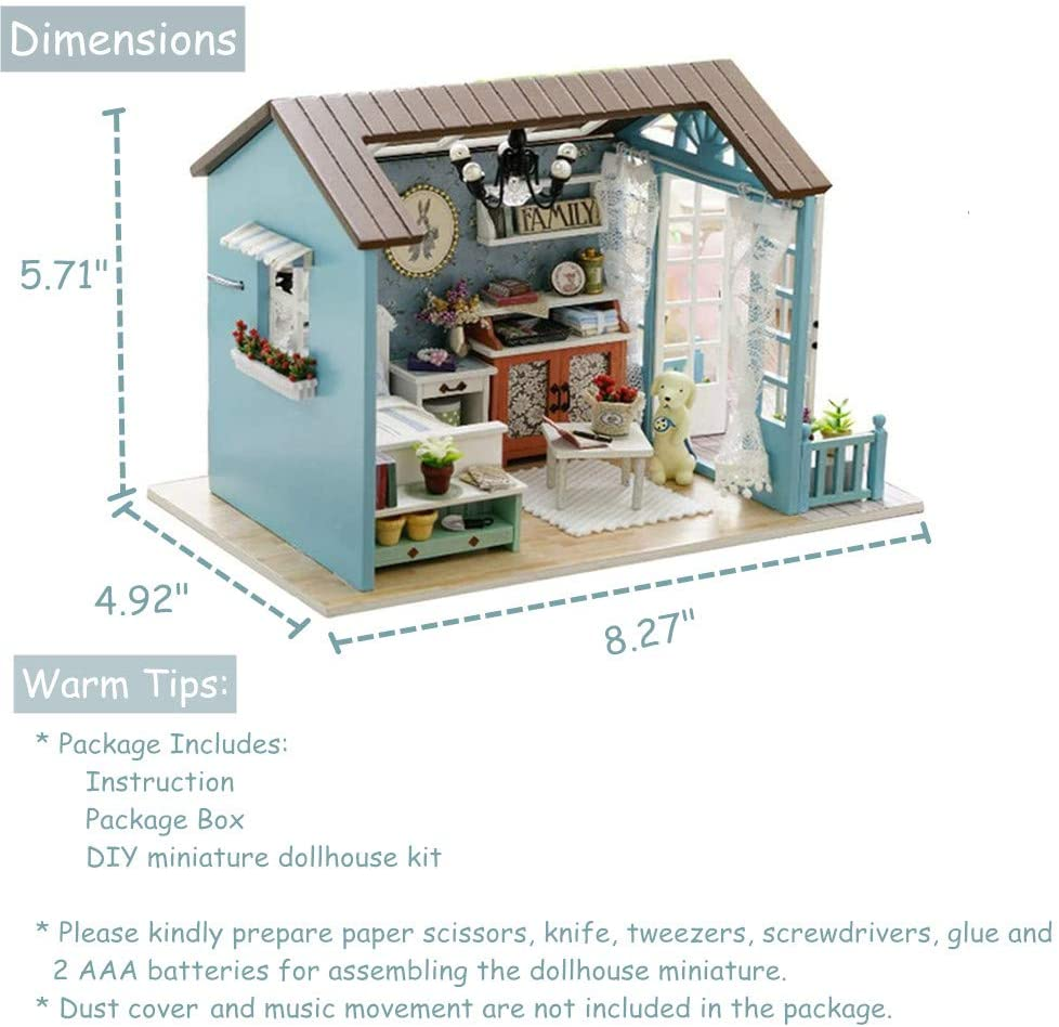 DIY Theater Miniature Box Doll Mini House Kids Girl Toy Christmas Gift HOT C8U4