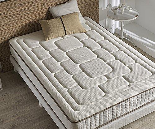 Zeng Visco Luxury Confort Viscoelástico, Algodón-Poliéster y Fibras Cashmere, Blanco, Cama 80/95 (Twin), 90 x 190 cm: Amazon.es: Hogar