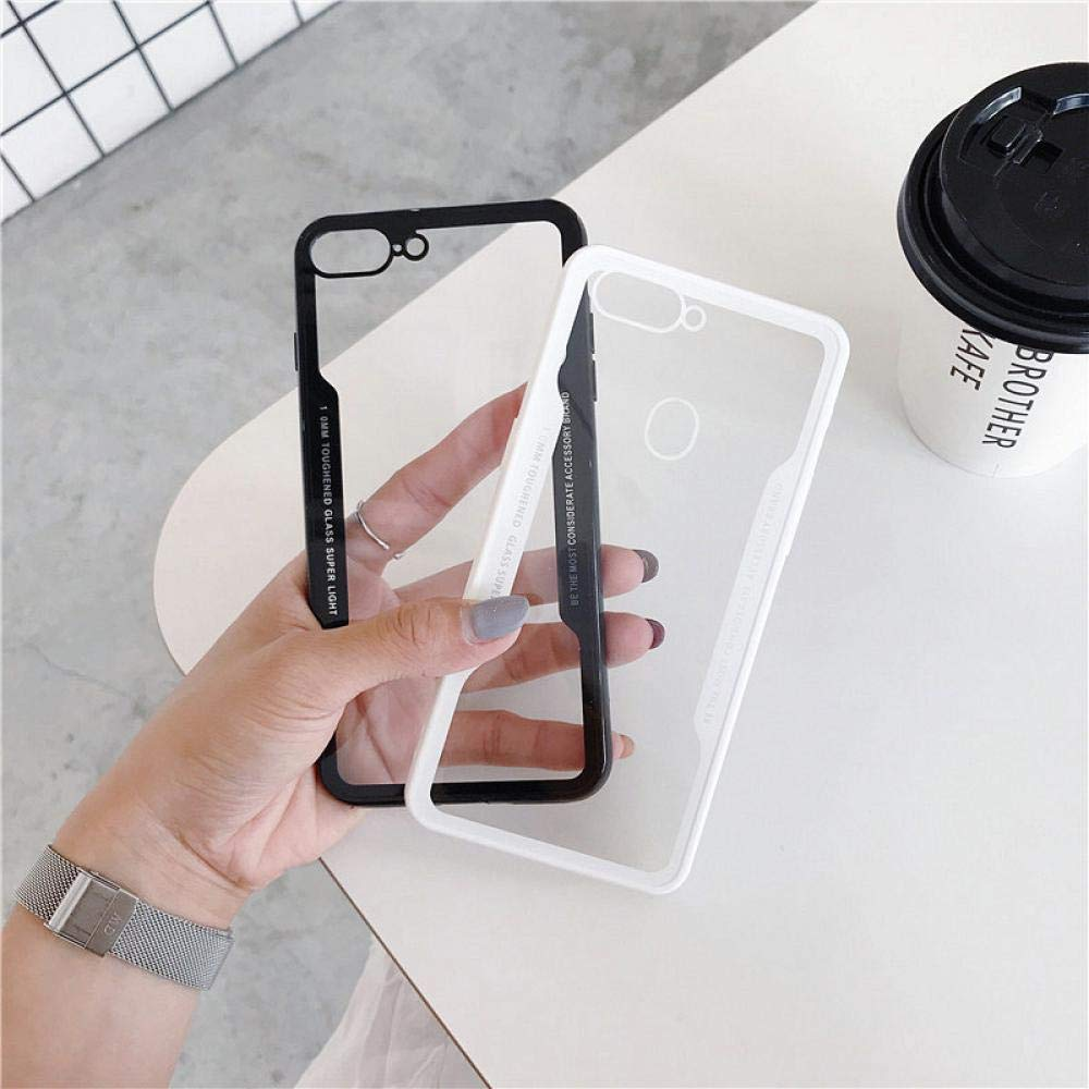 Amazon.com: Tempered Glass Silicone TPU Frame Case for ...