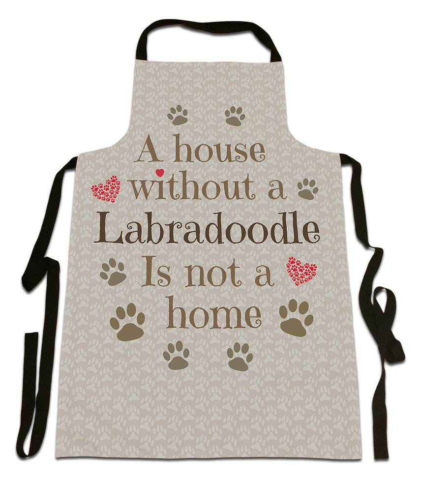 'A House Without A Labradoodle, Is Not A Home',Dog Breed Design, Canvas Apron, Size 25in x 35in approximately Is Not A Home' Fresh Publishing Ltd