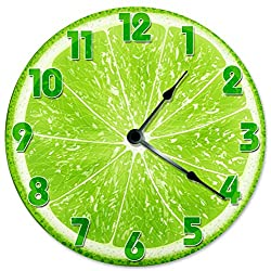 Large 10.5 Wall Clock Decorative Round Wall Clock Home Decor Novelty LIME CLOCK