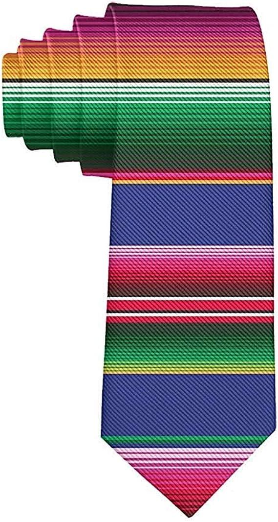 Corbata para hombre Novela Colorida manta mexicana Rayas ...
