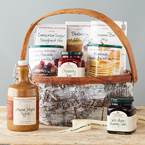 Stonewall Kitchen Breakfast Gift Baskets and Sets (8 Piece Family Breakfast Gift Basket)