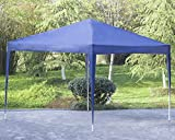 OHO New 10′X 10′ Blue Outdoor Pop Up Canopy Tent, Party Wedding Patio Tent Folding Gazebo Pavilion
