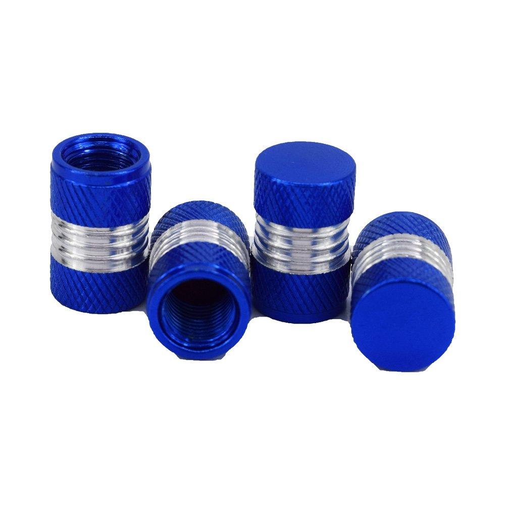 Outletshop24 Hochwertiges Aluminium Reifen Ventilkappen Set Blau 4 St/ück einfache Montage Eintragung Frei