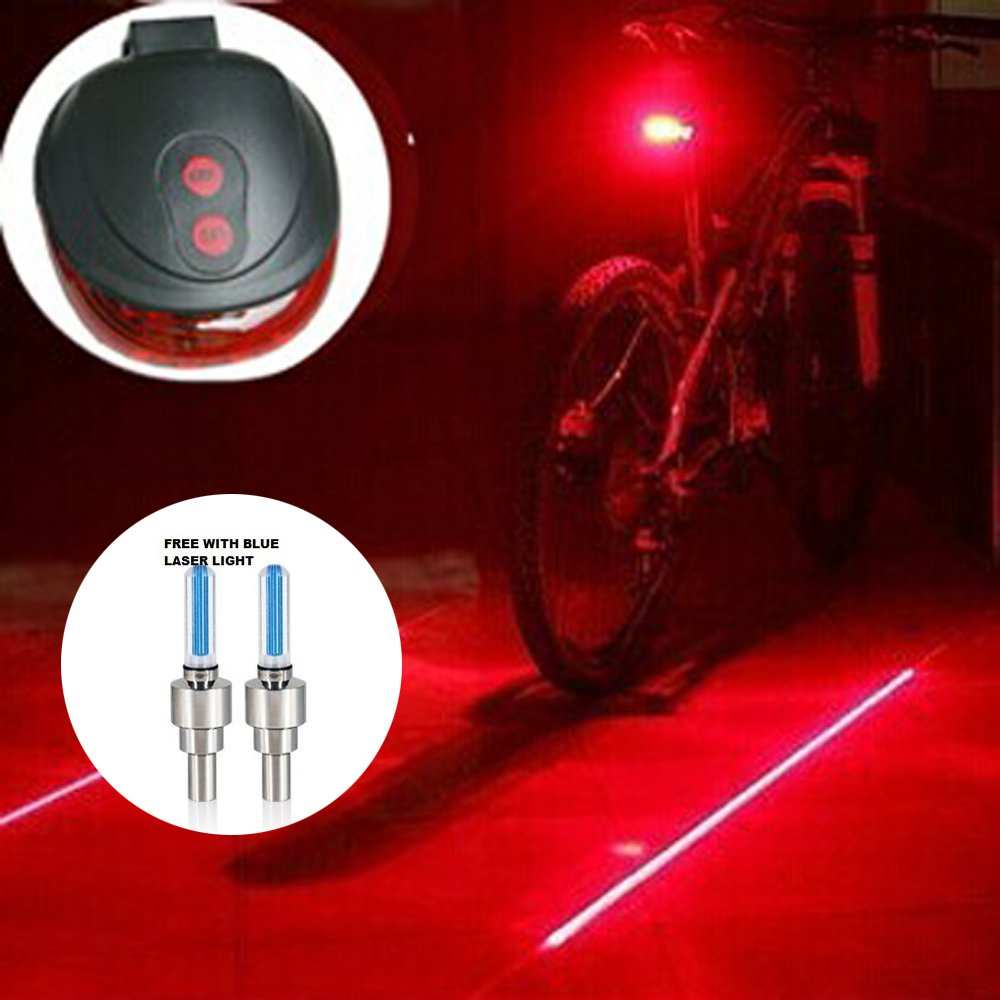 Top Yao High Quality 5led 2laser Cycling Safety Bicycle Rear Lamp Tail Light Flashing Waterproof Bike Laser