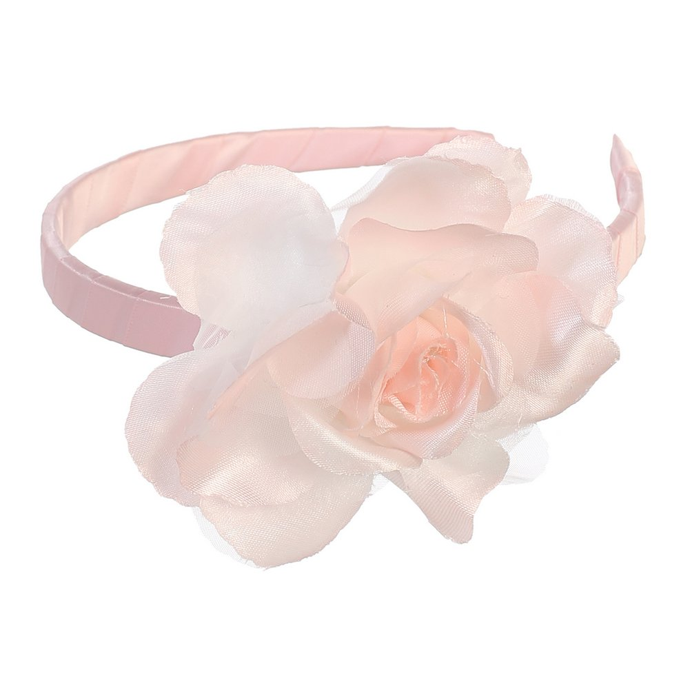 Lito Girls Pink Large Flower Hairband Accessory