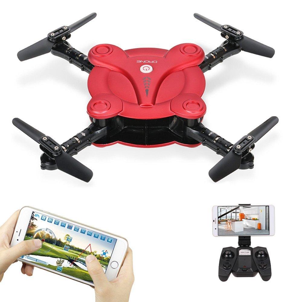 Goolsky FQ17W 6-Axis Gyro Mini Wifi FPV pieghevole G-sensor Pocket Drone con macchina fotografica 0.3MP Altitudine attesa RC Quadcopter