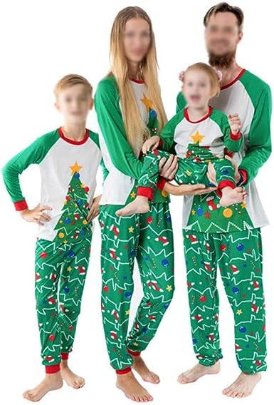 TLLW Pijama familiar de Navidad a juego con pijamas de ...