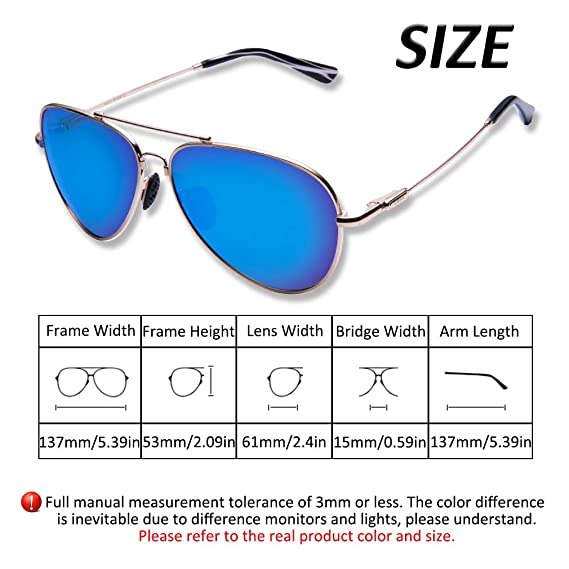 700606efac5 Amazon.com  TAIQX Polarized Sunglasses for Women Men with Driving Sunglasses  Classic Aviator Sunglasses with Spring Arms Suit Oversized and  Average-Sized ...