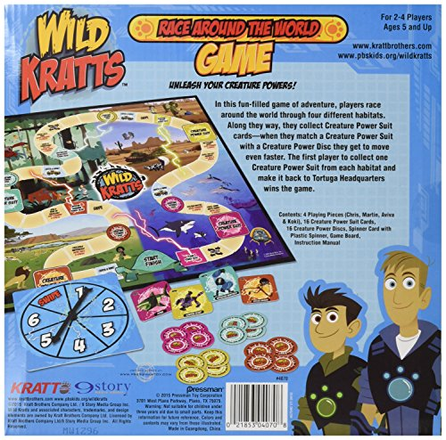 Amazon.com: Wild Kratts Race Around the World Board Game: Toys & Games