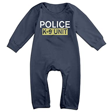 bf04d4605 Amazon.com: Police K-9 Unit Funny Baby Onesie Romper Jumpsuit Bodysuits:  Clothing