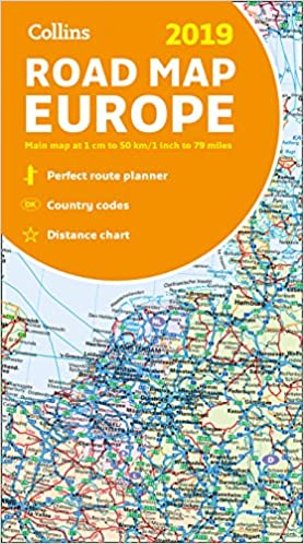 2019 Collins Map Of Europe Collins Maps 9780008313494 Books