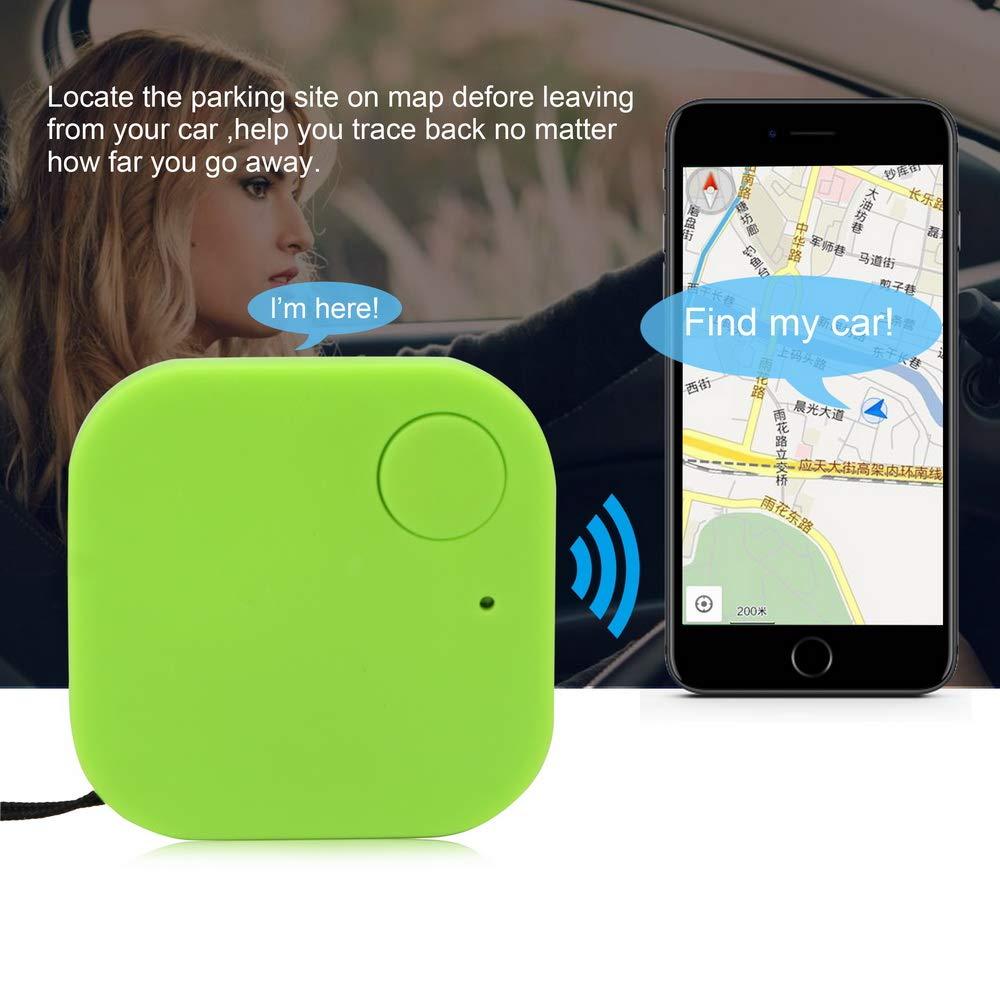 Porte-cl/és de Voiture Mini Bluetooth GPS Tracker Localisateur de cl/és Alarme Anti-Perte Noir