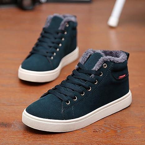 Le calzature sportive Feifei Scarpe Invernali da Uomo Spesse Calde Scarpe  Casual Alte in Cotone da 1b7d1fef2d2