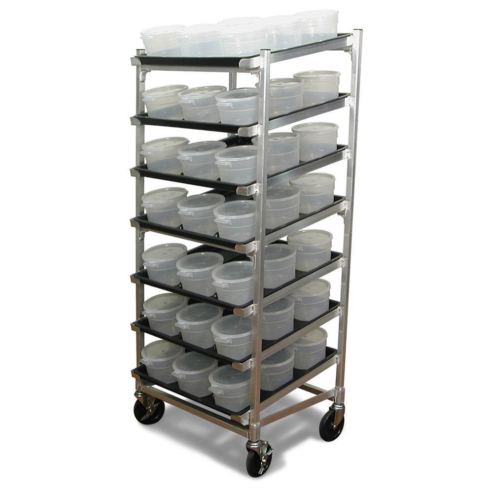 DoughXpress DXDC-5 Stainless Steel Dough Ball Storage Cart with Tray, 26-3/8'' Width x 63'' Height x 25-7/8'' Depth