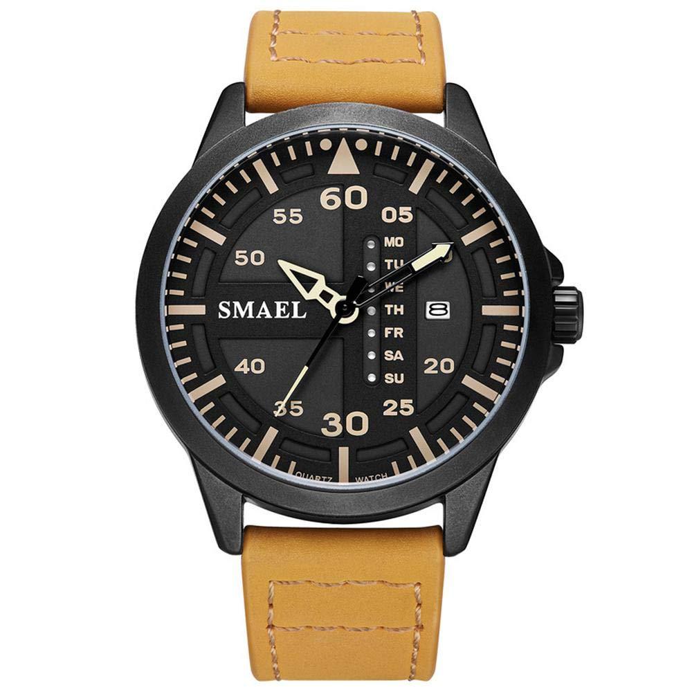 Amazon.com : Mens Sports Analog Quartz Watch Dual Display Waterproof Digital Watches with LED Backlight relogio Masculino El Movimiento de Los relojes ...