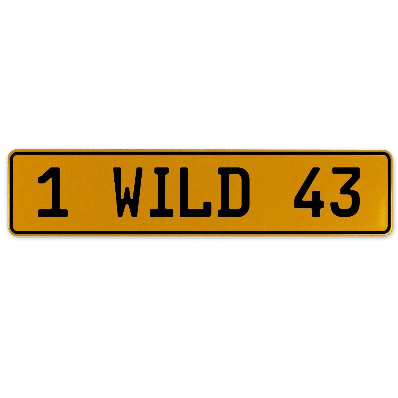 Vintage Parts 560977 1 Wild 43 Yellow Stamped Aluminum European Plate