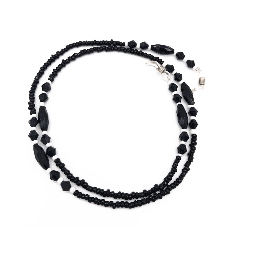 Black Beaded Eyeglass Chain Sunglass Cord Holder Lanyard Neck Strap 4332496370