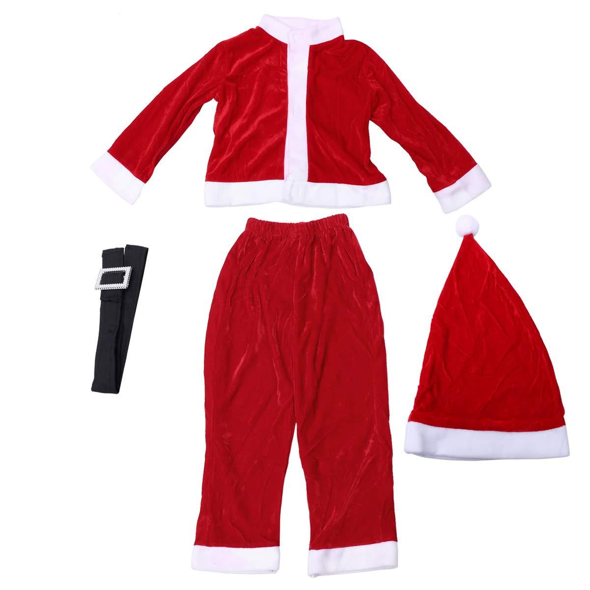 Amazon.com: BESTOYARD Christmas Santa Claus Costume hat ...