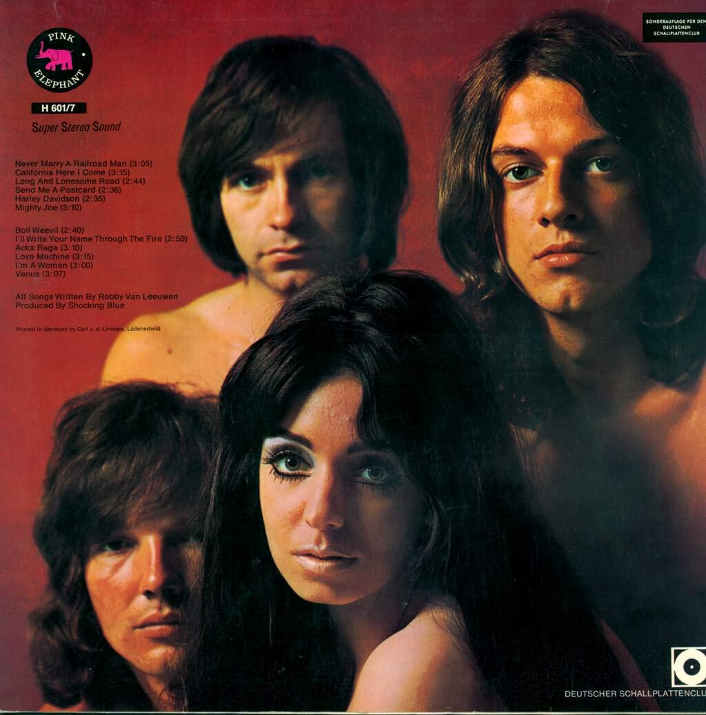 Shocking Blue   At Home Original Lp Vinyl Pink Elephant   Amazon ...
