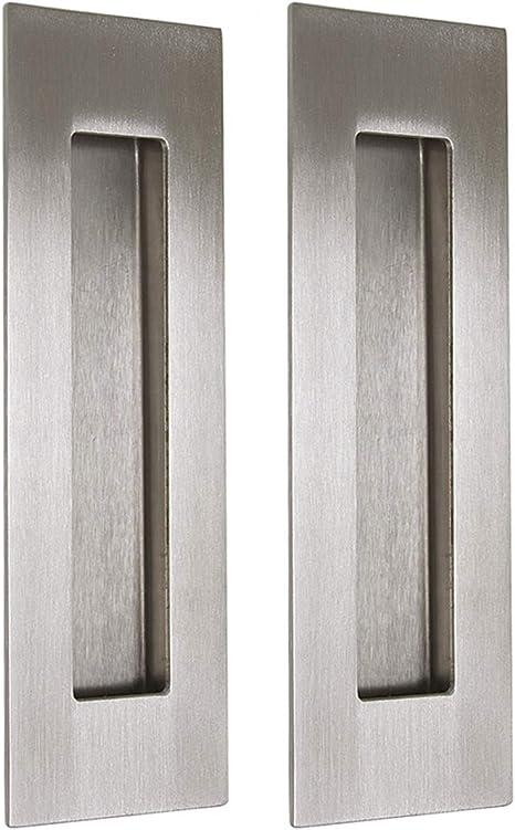 Tirador rectangular empotrado Probrico MH018, de 15,24cm de largo, para puerta corredera de armario, o de cajón: Amazon.es: Bricolaje y herramientas