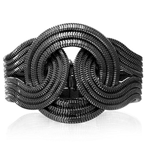 Lara Bohinc Femme Noir rhodium plaqué laiton Mini Solar Eclipse Bracelet de longueur 18cm