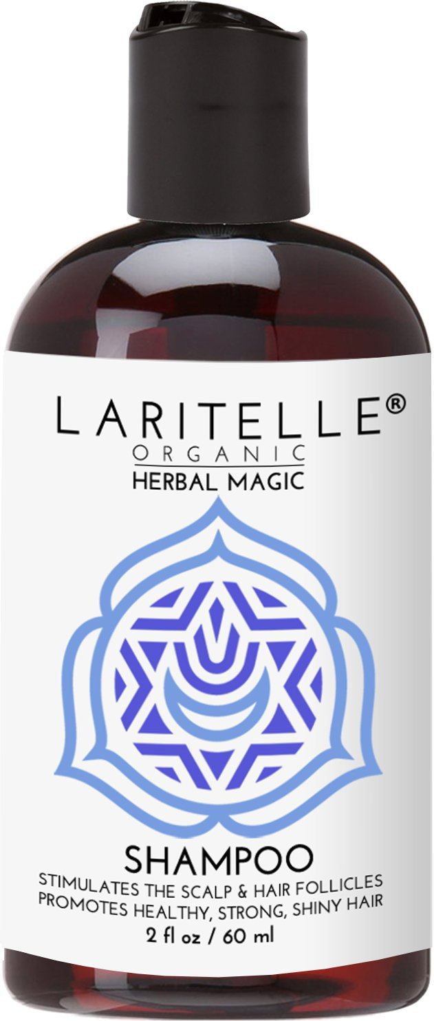 Laritelle Organic Travel Size Shampoo 2 oz   Hair Loss Prevention, Clarifying & Strengthening   Rosemary & Saw Palmetto   NO GMO, Sulfates, Alcohol, Parabens, Phthalates   Unscented. Hypoallergenic GF