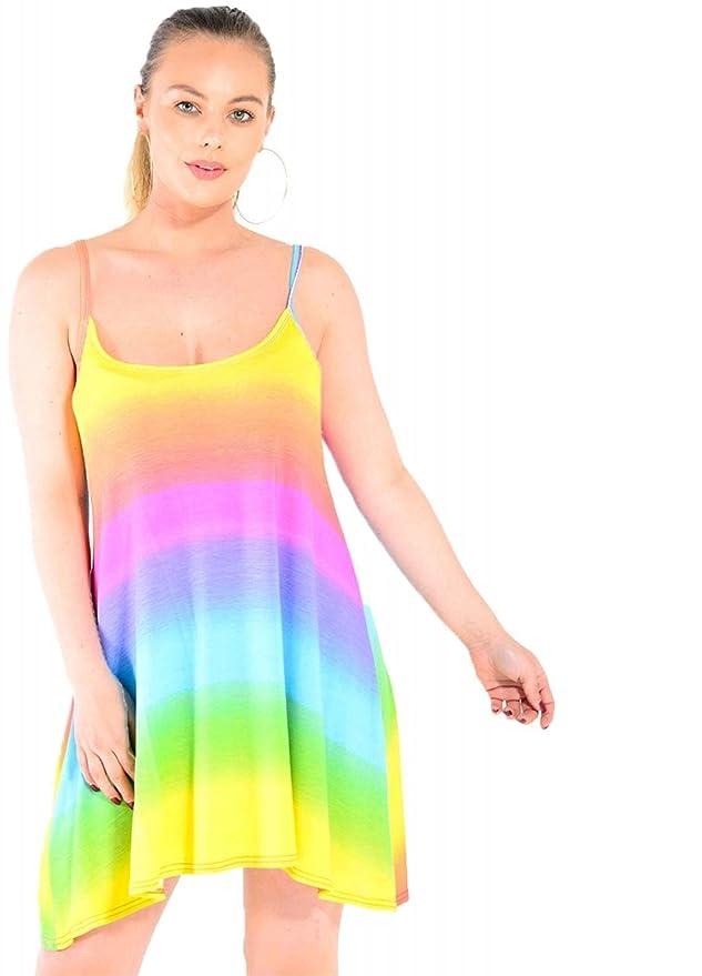 ab09ecf8a7a Baliza-Vestido sin Mangas para Mujer de Boca Ancha con Tirantes  Amazon.es   Ropa y accesorios