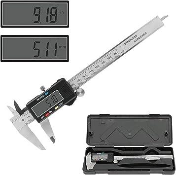 Calibre De Precisión Digital Vernier Regla Calibrador LCD Pie De Rey De 0-100mm