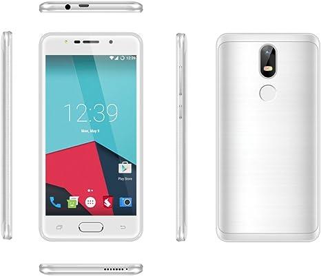 Teeno S29 Pro – libre 5,5 pulgadas HD Android 6.0 Smartphone Quad Core a 1,3 GHz Dual SIM 8.0 MP teléfonos Touche de tensión móvil – Blanca: Amazon.es: Electrónica