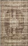 Area Rug Vintage Dark Beige 5' x 8' FT St. John Collection Rugs - Inspired Overdyed Carpet