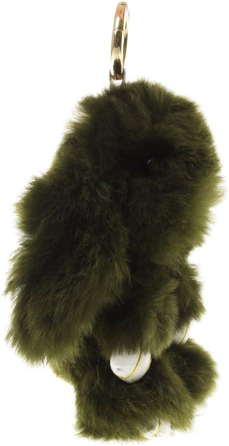 Firenze Artegiani Llavero Monedero Mujer Piel Aut/éntica 15 cm Negro Forma Conejo//Rabbit Sac bandouli/ère Noir