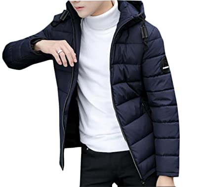 latest style professional sale online store desolateness Men's Soild Color Winter Hoodies Puffer Trench ...